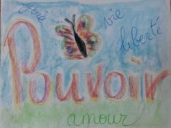 dessin de Babette sur le mot pouvoir...